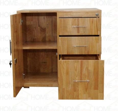 Tủ hồ sơ thấp bằng gỗ cao su có ngăn kéo TKG36