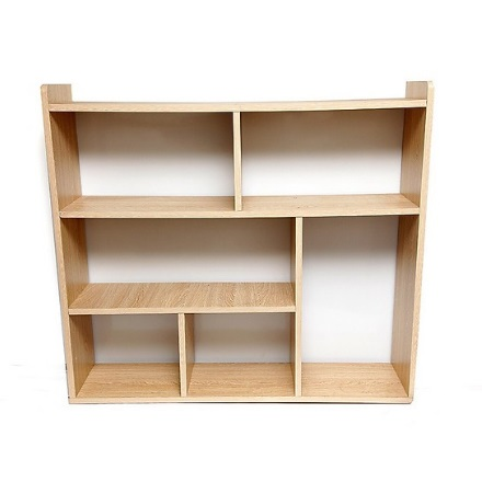 Kệ sách gỗ rộng 80cm treo tường KSG41